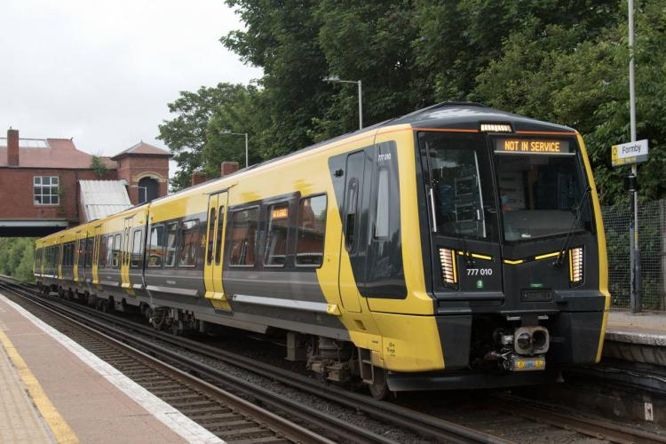 Merseyrail / Stadler 777 on test at Formby