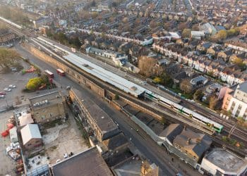 Balham station - arial view