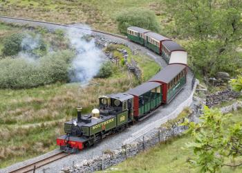 Lyd in steam on a PTG Tour on the Ffestiniog and Welsh Highland Railway