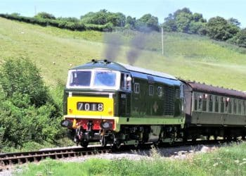 D7018 on the West Somerset Railway