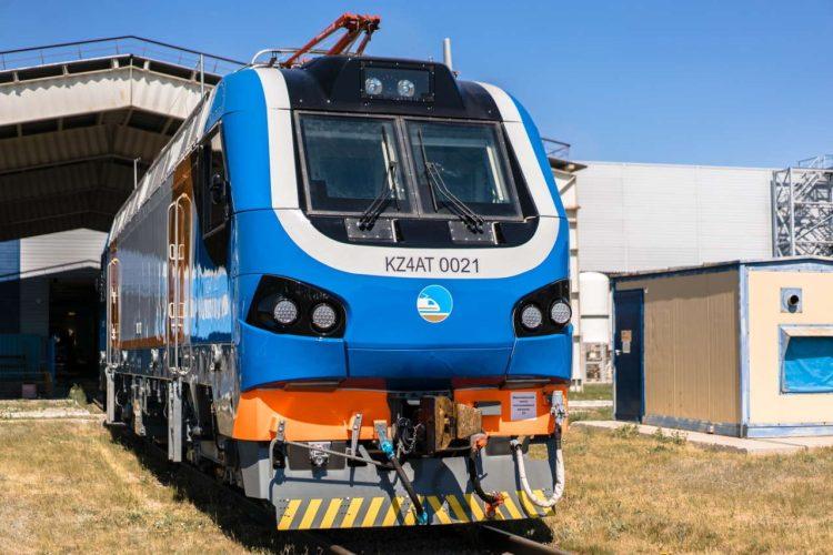 Alstom M4 locomotive in Kazakhstan