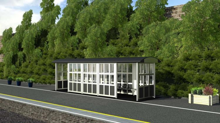 Dewsbury Station Proposed Platform 1 Waiting Shelter