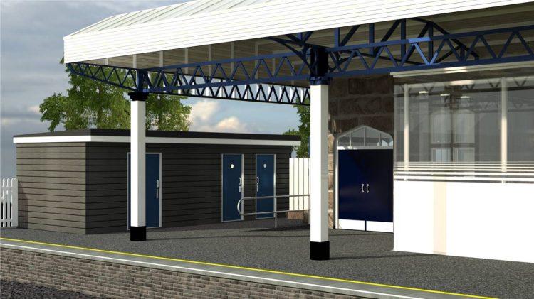 Dewsbury Station Proposed Platform 2 WC Changing Places Unit