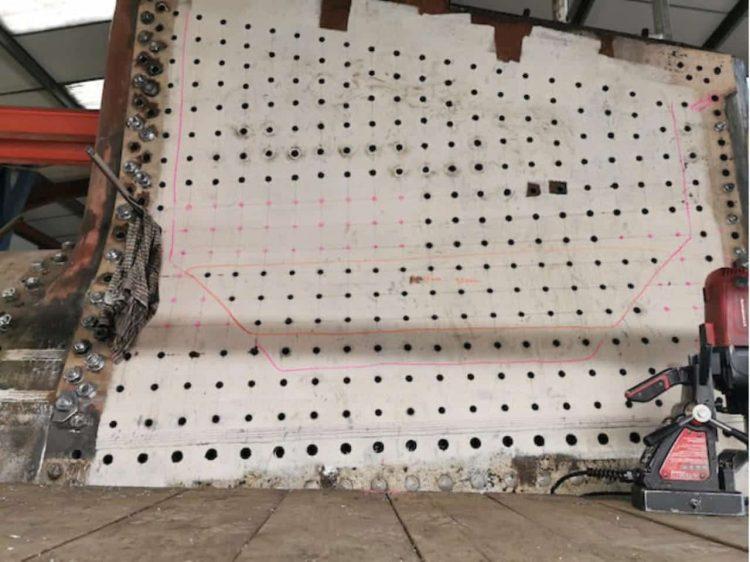 Drilling Holes in 4253's Firebox // Credit 4253 Locomotive Company Ltd
