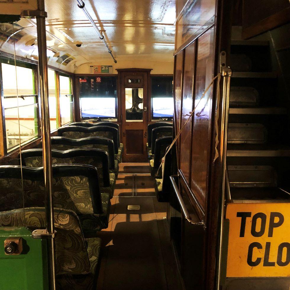 Inside Blackpool Tram 249