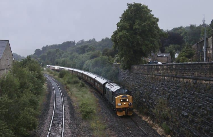 Class 37 in the pouring rain