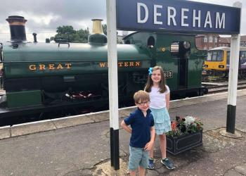 Kids who will now be travelling free at Dereham Station if accompanied by an Adult ticket holder