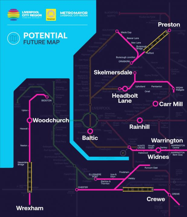 Merseyrail For All Map