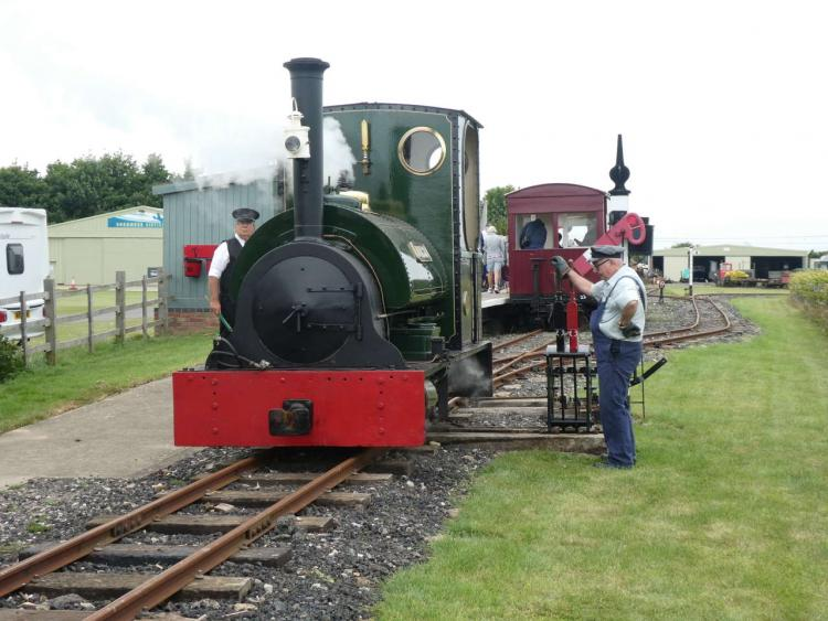 Jurassic in action on the Lincolnshire Coast Light Railway