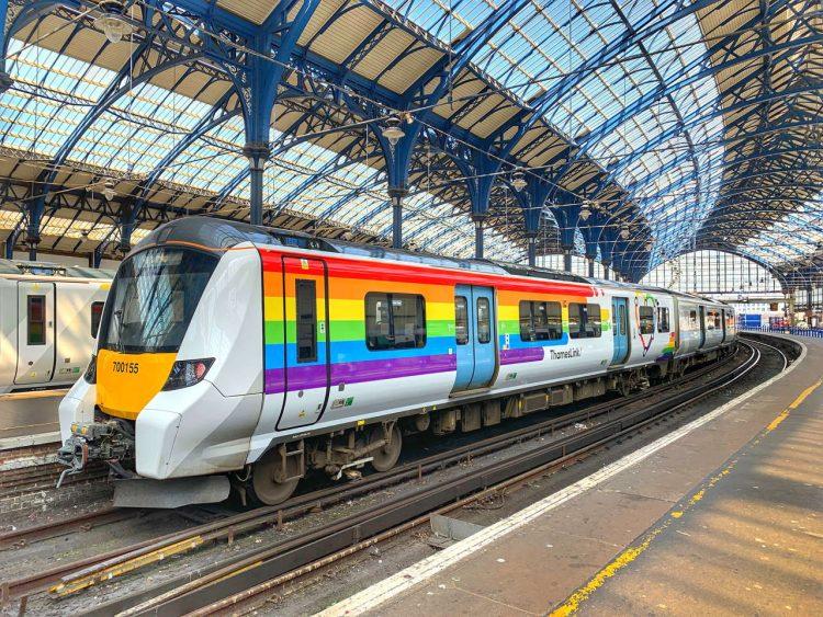 Pride Thameslink train at Brighton -credit Matthew Wilmhurst, GTR