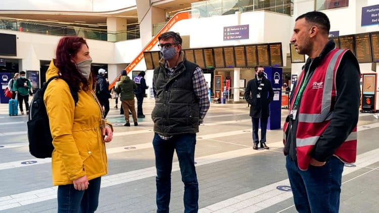 Shelter Outreach visit Birmingham New Street