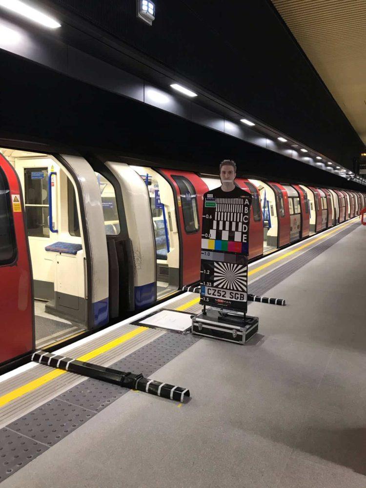NLE trial operations - taken during taken during Track to Train CCTV image adjustment & testing