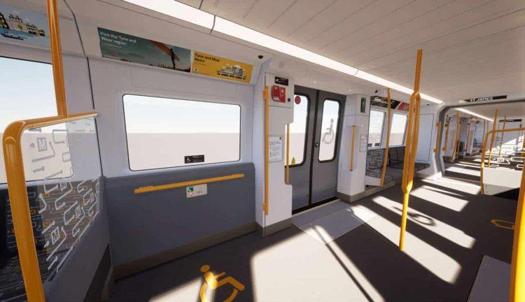 Tyne and Wear Metro train interior