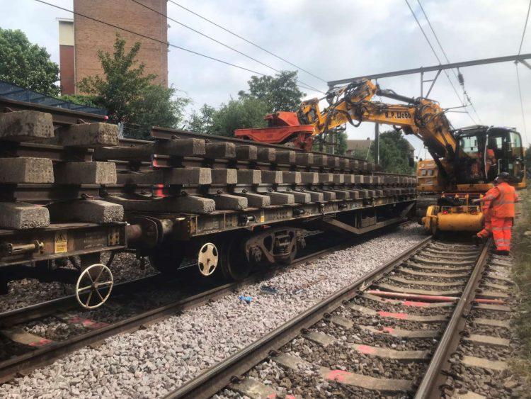 Upton Park track works