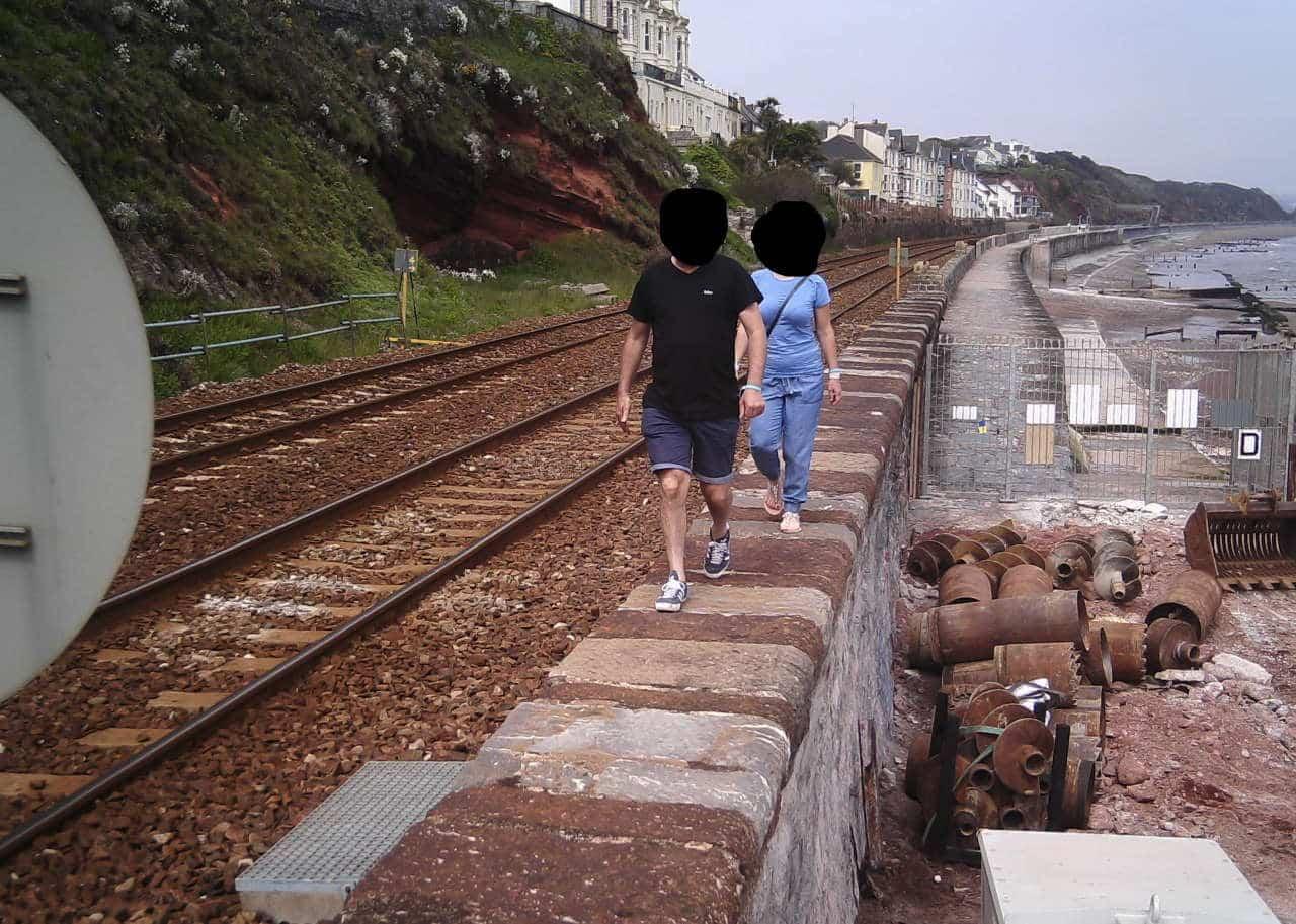 Dawlish rail trespassers