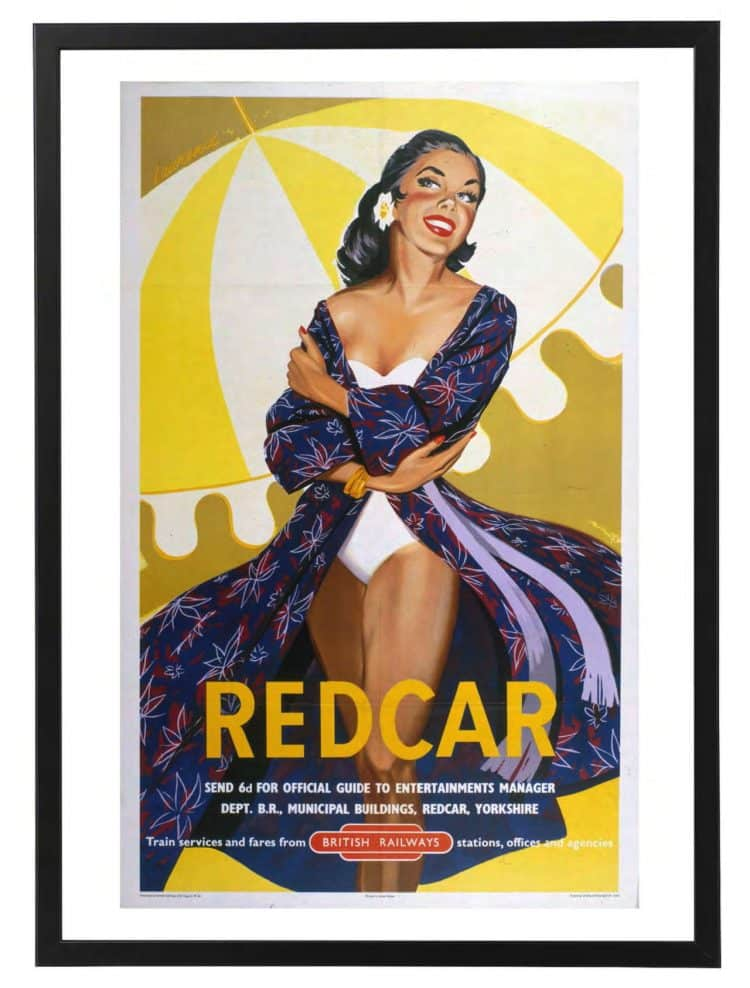 Redcar rail poster