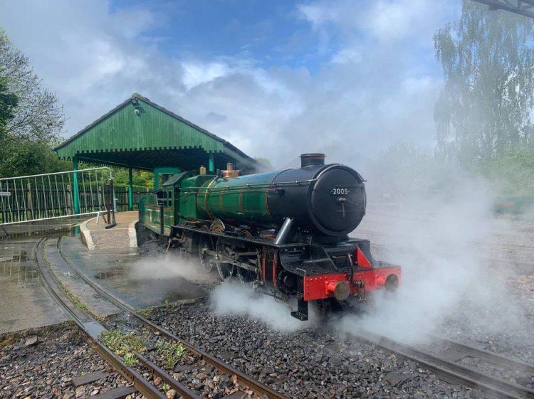 Steam locomotive on the Eastleigh lakeside railway