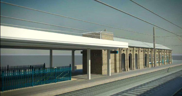 3D impression, Finsbury Park railway station