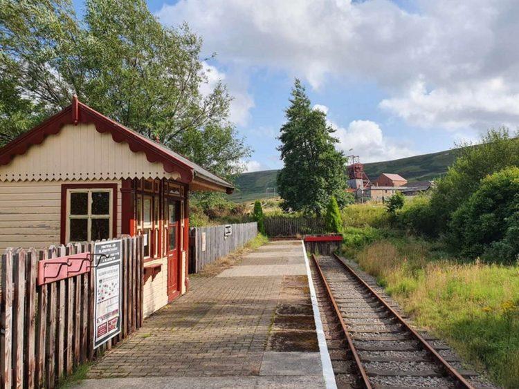 Big Pit Halt Station at Blaenavon heritage Railway