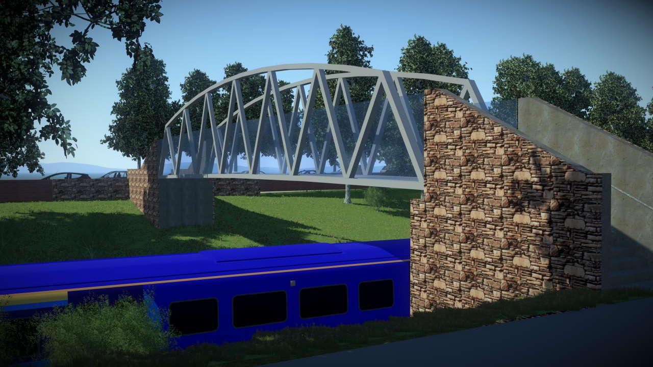 New footbridge in Glasgow