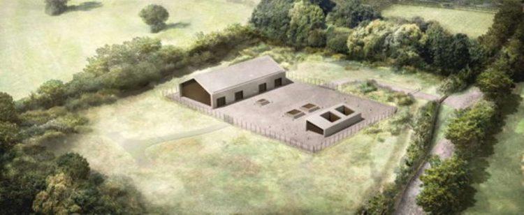 Chalfont St Peter Ventilation Shaft Headhouse July 2020 // Credit HS2