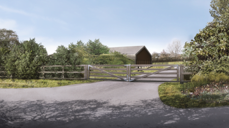 Chalfont St Peter headhouse CGI close up // Credit HS2