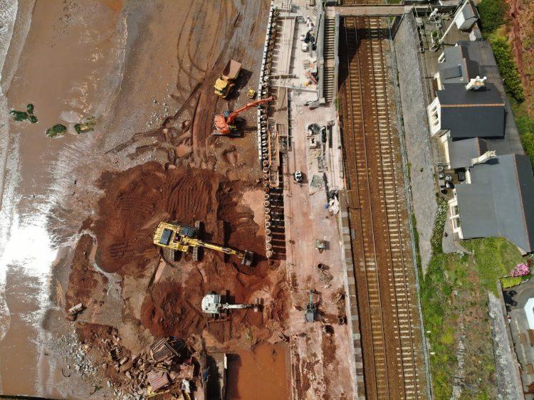 Dawlish sea wall progress