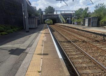 Eccles station, looking in the westbound direction