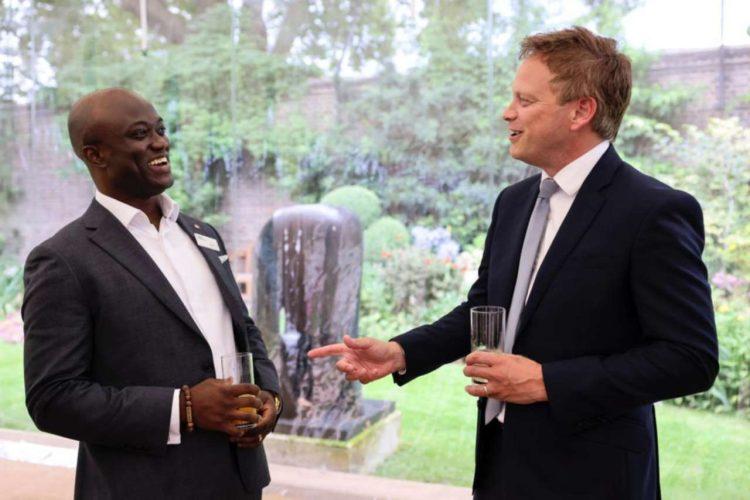 Grant Shapps with Samuel Obiri-Yeboah