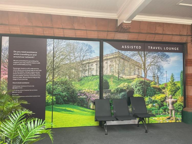 Assisted Travel Lounge at Nottingham station