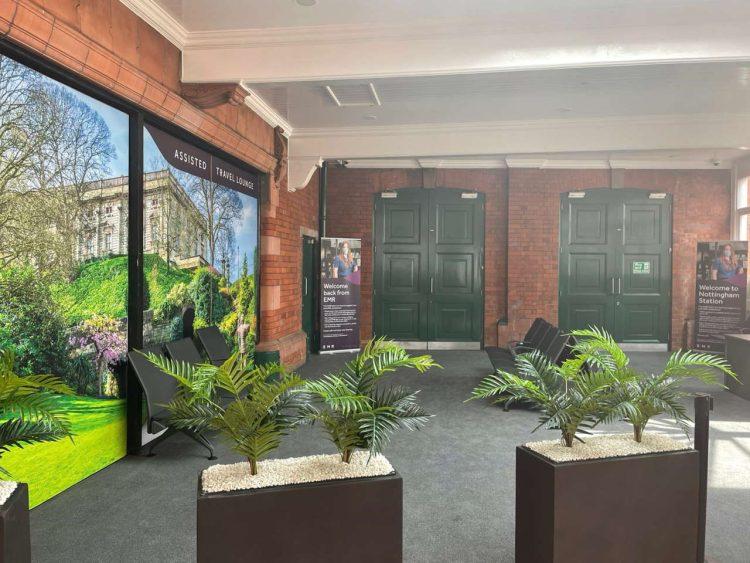 EMR Travel lounge at Nottingham station