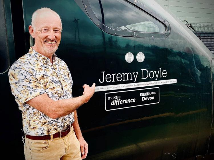 Jeremy Doyle with his named IET train