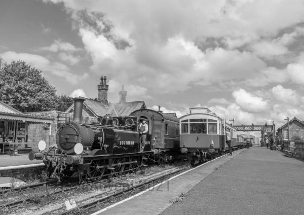 Terrier 2678 arrives into Embsay on the Embsay and Bolton Abbey Railway