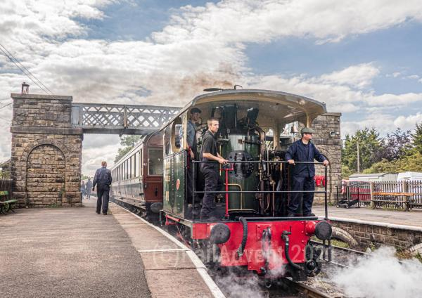 Cockerill Lucie departs Embsay - Embsay and Bolton Abbey Railway