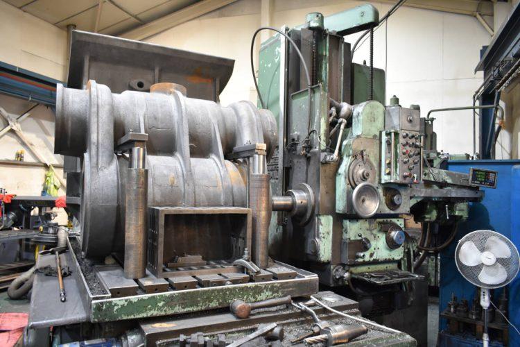 Cylinder work on GWR locomotive 4709