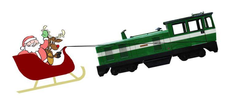 Santa, Reindeer & Sleigh at the Ruislip Lido Railway