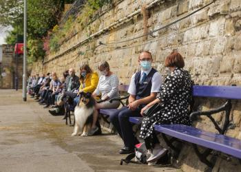 TransPennine Express launch 'chatty bench' initiative on the world's longest railway bench in fight to end loneliness in the UK.