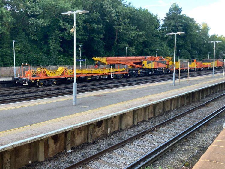Weybridge track renewals