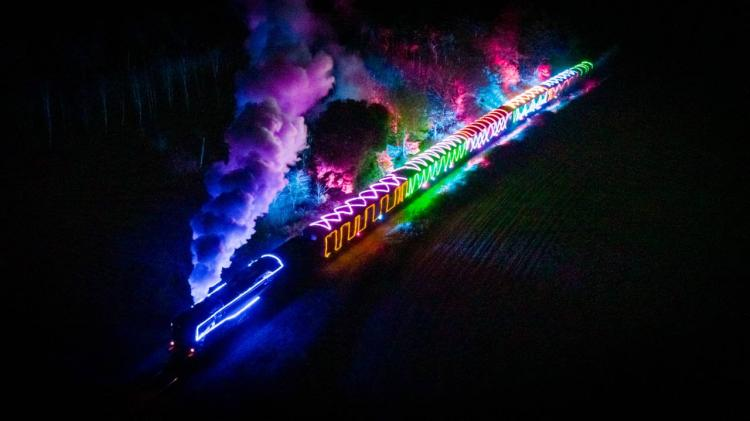 Winter steam train