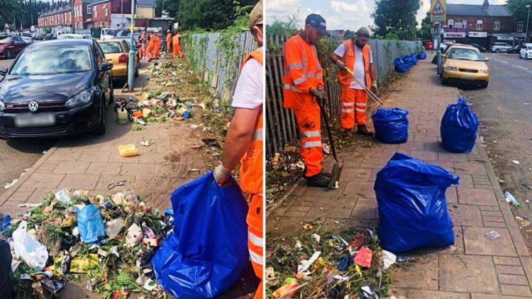 Fly tipping clean up by Network Rail