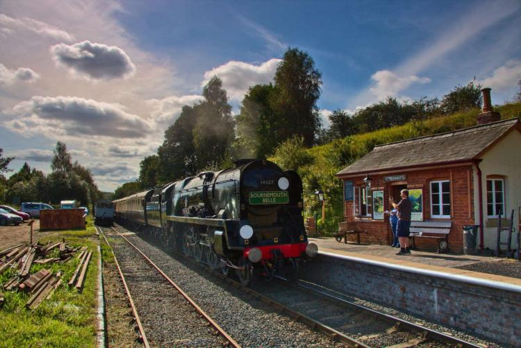 34027 Taw Valley at Eardington on the Severn Valley Railway