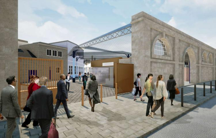 An artist's impression of the new improvements to Newcastle Central Station