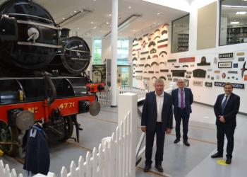 Chris Barron, Damian Allen and Andrew McLean in the Rail Heritage Centre 1