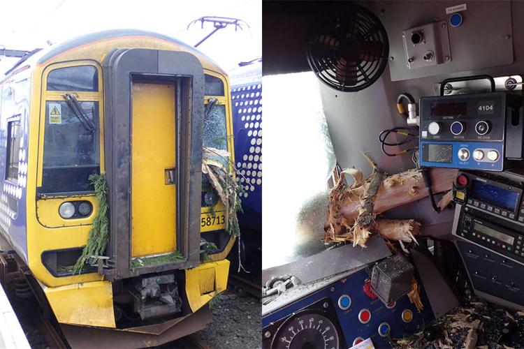 ScotRail train after crash