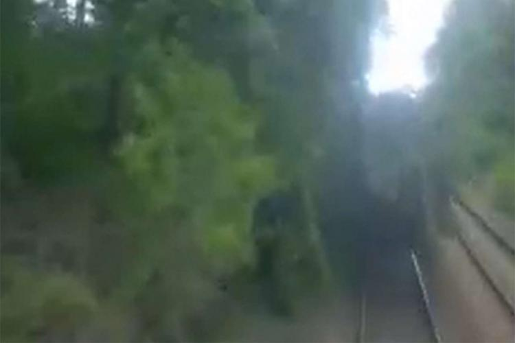 CCTV of the train immediately before the accident