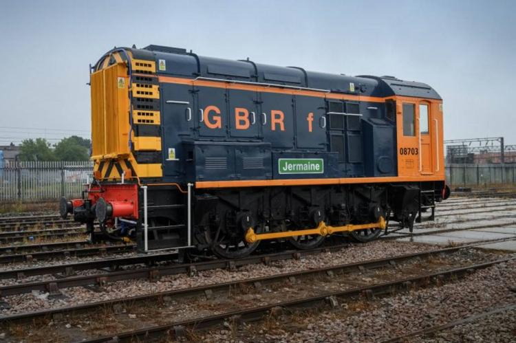 Class 08 shunter named after Jermaine