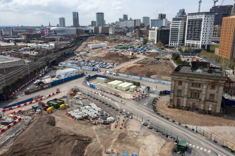 Drone footage of Birmingham Old Curzon Street