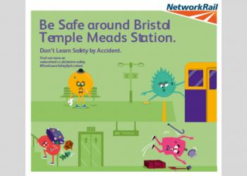 An example of one of the campaign graphics in Bristol Temple Meads