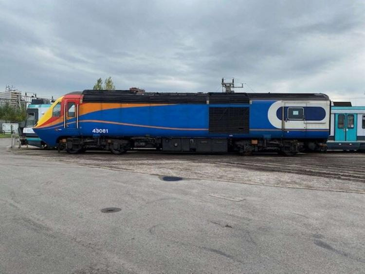 43081 upon arrival at Crewe Heritage Centre