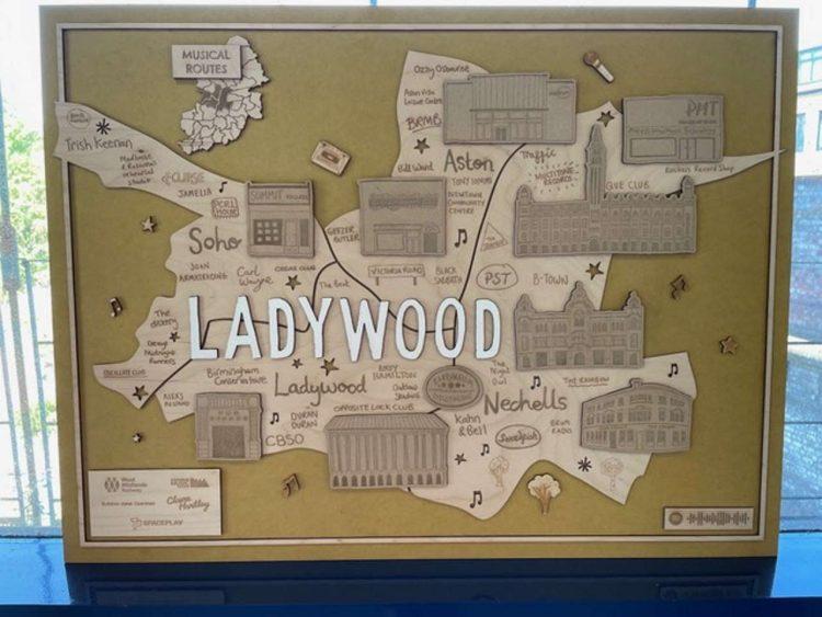 Ladywood station map